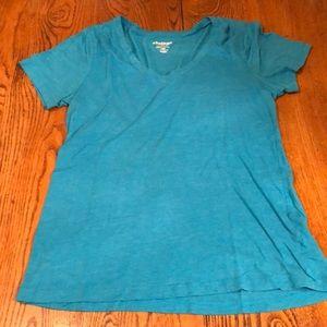 Teal blue v-neck t-shirt